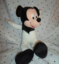"Sega Disney Mickey Mouse 16"" White Jumpsuit Plush Soft Toy Stuffed Animal"