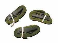 "LOT OF 3 USGI ARMY SURPLUS GREEN LASHING ALICE CARGO AUTOMOBILE STRAPS 52"" NEW"