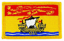FLAG PATCH PATCHES NEW BRUNSWICK PROVINCIAL IRON ON EMBROIDERED SMALL CANADA