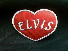 ROCK´N´ROLL KING ELVIS LOVE HERZ ROCKABILLY PATCH
