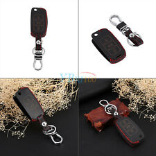 Leather Key Holder Cover Case 3B For VW Sagitar Golf Jetta Touareg Passat Bora
