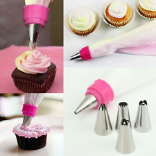 One Set Cake Cupcake 5pcs Icing Piping Nozzles Tips Decorating Bag Kitchen Tool