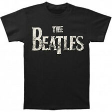 The BEATLES - Basic Logo (Distressed Print) T-shirt - NEW - LARGE ONLY