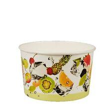 """300 Eisbecher Pappe """"pure"""" rund 250 ml Ø 10,2 cm, 6,2 cm """"Früchte"""""""