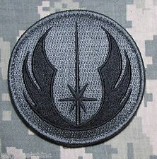 JEDI ORDER STAR WARS USA MILITARY TACTICAL US ARMY MORALE ACU DARK VELCRO PATCH