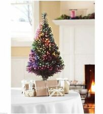 Small Christmas Tree 32 Inch Fiber Optic Color Changing LED Lights NEW IN BOX!
