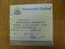 21/12/1994 Ticket: Newcastle United v Manchester City [Football League Cup] (fol