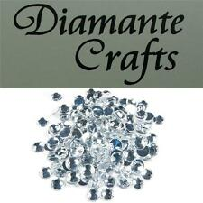 200 x 7mm Clear Diamante Round Loose Flat Back Rhinestone Craft Embellishments