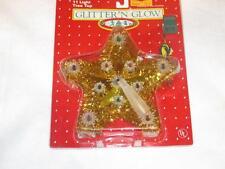 VINTAGE Gold Tinsel Star 11 light  LIGHTED CHRISTMAS TREE TOPPER new NIP