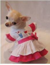 Sweet Stuff Ruffle Dog Dress/Dog clothes/Dog T-shirt/Chihuahua/ size xs,s,m,l