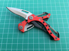 Red Folding Tactical Small Outdoor Hunting Camping Tool Pocket Fishing Knife