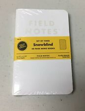 Field Notes Snowblind 3-Pack Memo Notebooks Pads - Limited Edition (Winter 2015)