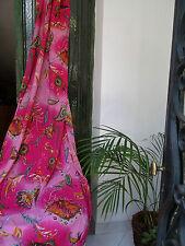 Grand coupon :7 mètres voile de coton imprimé  de fleurs stylisées