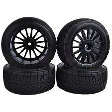 4PCS 80mm RC 1/10 On-Road Rally Car Rubber Tyres Tires HPI WR8 HSP 94177 Black