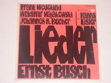 Ernst Busch (Wedekind, Majakowski, R. Becher) singt - LP Eterna