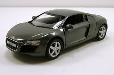 "Kinsmart Audi R8 Sports Coupe 1:36 scale 5"" diecast model car Gray K01"