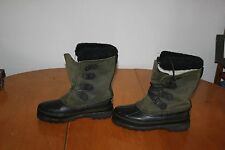 Women's Sorel Alpine Winter Snow Boots Dk. Green (6) & Liners