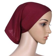 Ladies Under Scarf Tube Bonnet Cap Bone Islamic Head Cover Hijab Brown Useful