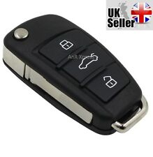"Audi 3 Button Folding Flip Key Case For A3 A4 A5 A6 A8 TT Q5 Q7 ""WITH LOGO"""