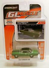 1970 '70 PLYMOUTH GTX IVY GREEN DIECAST GL MUSCLE R12 GREENLIGHT 2015 '15