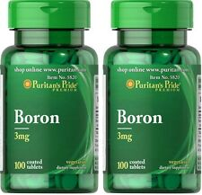 2X Boron 3 mg x 100 ( 200 ) Tablets Puritans Pride * AMAZING PRICE *