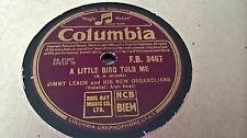 JIMMY LEACH A LITTLE BIRD TOLE ME & ID RATHER BE WRONG THAN BE SORRY COL FB3467