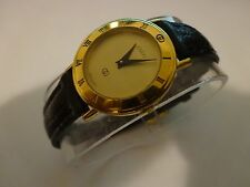 GUCCI Luxury Womens Swiss Quartz Gold Watch 3000L Authentic
