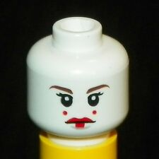LEGO - Minifig, Head Red Lips, Eyelashes, 2 Red Dots on Cheeks - (Queen Amidala)