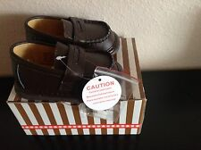 Wee Squeak Toddler Boy Dress Shoes Brown Leather Penny Loafer Size 4 New In Box