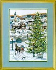 "Christmas Village Cross Stitch Kit - 14 Count - 10"" x 14"""