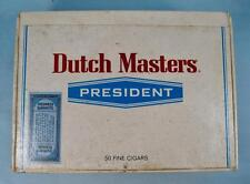 Dutch Masters President Vintage Wooden Cigar Box Consolidated Corp FL (O) AS IS