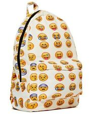 NEW Smiley Emoji Backpack Funny Emoticon Pack School Shoulder Bag Boys Girls UK