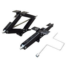 "Set of Two 5000 lb 24"" RV Trailer Stabilizer Leveling Scissor Jacks w/handle"