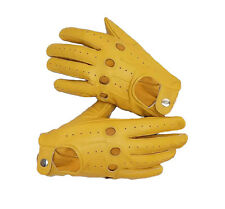 NEW REAL SOFT LEATHER MENS DRIVING  RIDING BIKER CYCLING GLOVES