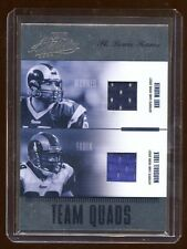 04 ABSOLUTE RAMS QUAD GAME JERSEY #D /50 KURT WARNER-MASHALL FAULK-HOLT-BULGER