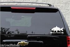 bow hunter fish decal