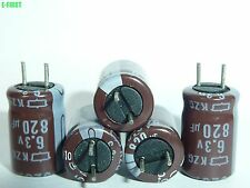 NEW 2 x NIPPON 6.3V 820UF 105°C 8X11.5 KZG Motherboard Low ESR CAPS CAPACITOR