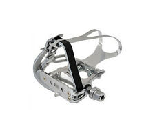 Token Road Bike Track / Road Pedals with Toe Clips & Straps - TK458