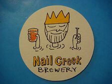 BEER Bar COASTER ~*~ NAIL CREEK Pub & Brewery ~*~ Utica, NEW YORK Craft Brewery
