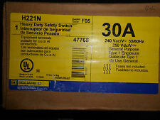 SQUARE D H221N SAFETY SWITCH 30 AMP 240 VOLT DISCONNECT