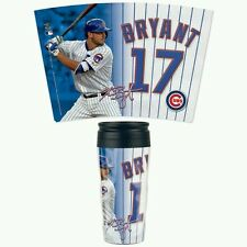 KRIS BRYANT CHICAGO CUBS ACRYLIC TRAVEL COFFEE MUG HOT OR COLD