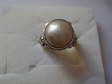 Mabe Pearl 12mm Ring in Sterling Silver Nickel Free (Size 8.0)  DADs
