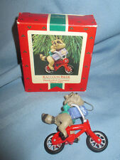 Hallmark Keepsake Christmas Ornament 1987 Raccoon Biker