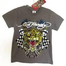 Ed Hardy Boys Gray Short-sleeved Tiger/Dragon Print T-Shirt (2/3) NWT