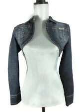 Bolero Style Cropped Shrug Denim Jean Jacket Blue Hydraulic Womens Small