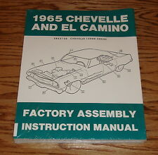 1965 Chevrolet Chevelle El Camino Factory Assembly Shop Manual 65 Chevy