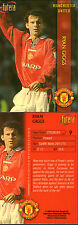 FUTERA 1998 MANCHESTER UNITED RYAN GIGGS CARD NUMBER 9