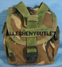 US Military 1 Quart Woodland MOLLE Utility Dump Pouch 1 QT Canteen Carrier NICE