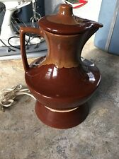 Original Watt Orchard Ware Brown Drip #132 Pitcher With Cover & Heater