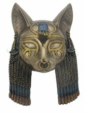 "7.5"" Bastet Mask Wall Plaque Egyptian Egypt Home Decor"